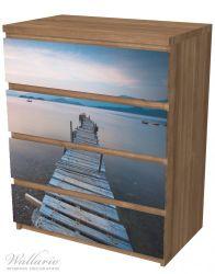 Möbelfolie Steg am See- Idylle bei Sonnenuntergang – Bild 6