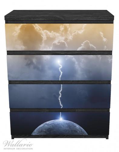 Möbelfolie Gewitter über der Erde – Bild 1