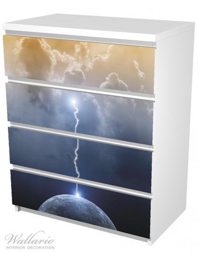 Möbelfolie Gewitter über der Erde – Bild 5