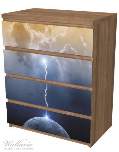Möbelfolie Gewitter über der Erde – Bild 6