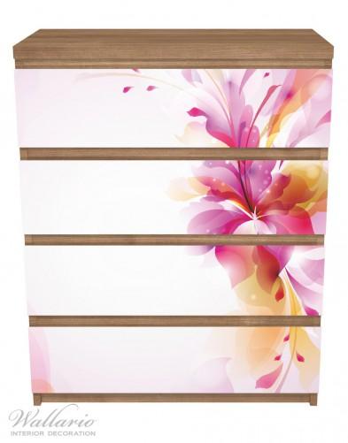 Möbelfolie Zentrum der pinken Blume – Bild 3