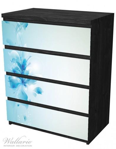 Möbelfolie Blaues Blumenbuket – Bild 4