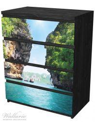 Möbelfolie Felsenschlucht am Meer in Thailand – Bild 4