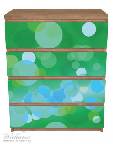 Möbelfolie Grüne und blaue Kreise - harmonisches Muster – Bild 3
