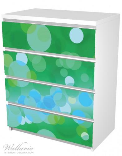 Möbelfolie Grüne und blaue Kreise - harmonisches Muster – Bild 5
