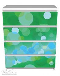 Möbelfolie Grüne und blaue Kreise - harmonisches Muster – Bild 2
