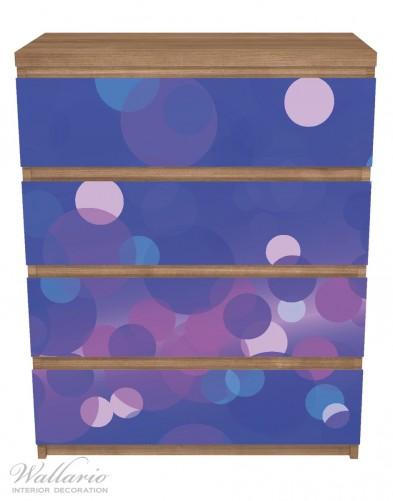Möbelfolie Blaue Kreise mit pink - harmonisches Muster – Bild 3