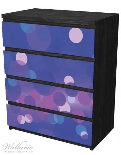 Möbelfolie Blaue Kreise mit pink - harmonisches Muster – Bild 4