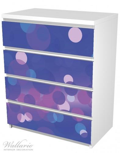Möbelfolie Blaue Kreise mit pink - harmonisches Muster – Bild 5