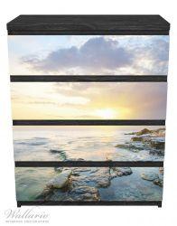 Möbelfolie Sonnenuntergang über dem Meer – Bild 1