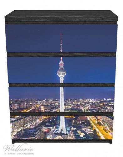 Möbelfolie Fernsehturm Berlin bei Nacht – Bild 1