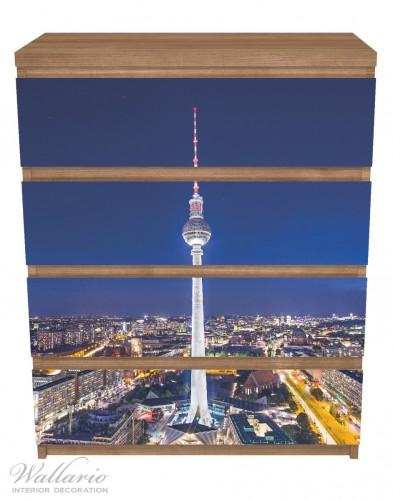 Möbelfolie Fernsehturm Berlin bei Nacht – Bild 3