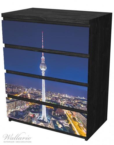 Möbelfolie Fernsehturm Berlin bei Nacht – Bild 4