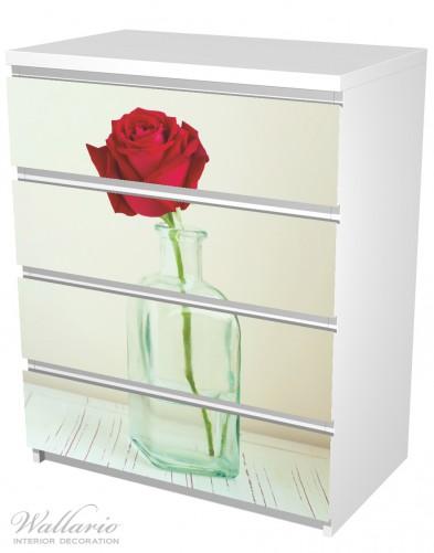 Möbelfolie Rote Rose in Glasvase – Bild 5