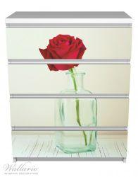 Möbelfolie Rote Rose in Glasvase – Bild 2