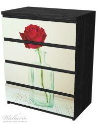 Möbelfolie Rote Rose in Glasvase – Bild 4