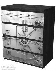 Möbelfolie Tresortür mit Öffnungsmechanismus – Bild 4