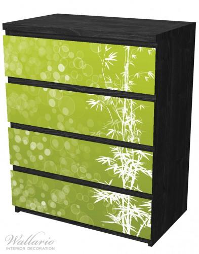 Möbelfolie Bambusmuster grün-weiß – Bild 4