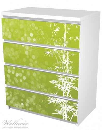 Möbelfolie Bambusmuster grün-weiß – Bild 5