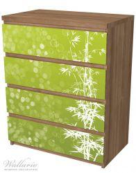 Möbelfolie Bambusmuster grün-weiß – Bild 6