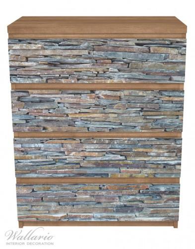 Möbelfolie Natursteinmauer in grau braun – Bild 3