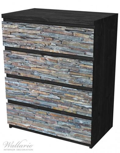 Möbelfolie Natursteinmauer in grau braun – Bild 4