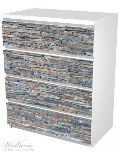 Möbelfolie Natursteinmauer in grau braun – Bild 5
