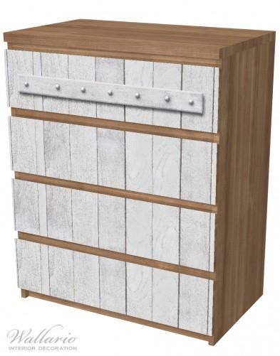 Möbelfolie Graue Holztür – Bild 6