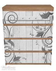 Möbelfolie Graue Holztür mit Schnörkelmuster – Bild 3