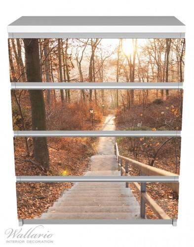 Möbelfolie Weg in den Sonnenuntergang – Bild 2