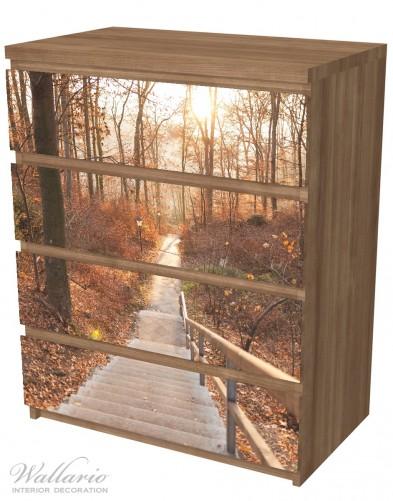 Möbelfolie Weg in den Sonnenuntergang – Bild 6