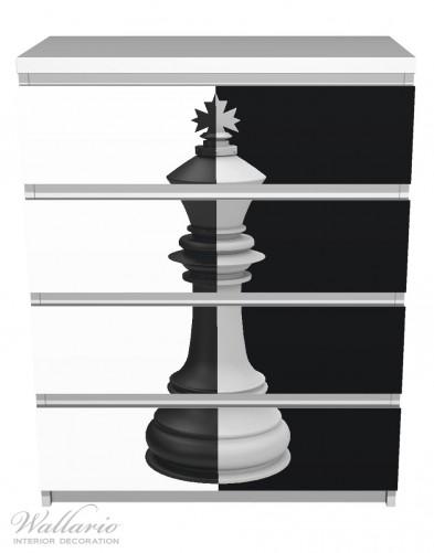 Möbelfolie Schachfigur schwarz-weiß – Bild 2