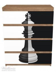 Möbelfolie Schachfigur schwarz-weiß – Bild 3