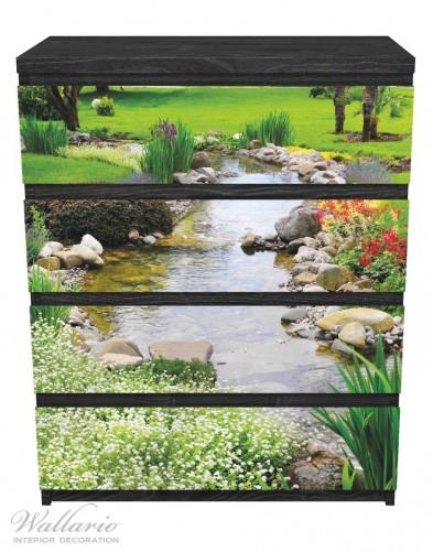 Möbelfolie Blumen am Teich – Bild 1
