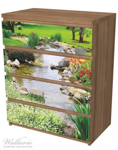 Möbelfolie Blumen am Teich – Bild 6