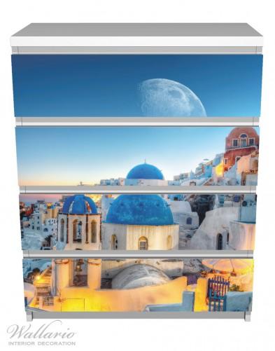 Möbelfolie Urlaub auf Santorini – Bild 2