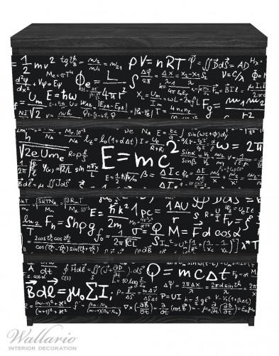 Möbelfolie Mathematische Formeln – Relativitätstheorie – Bild 1