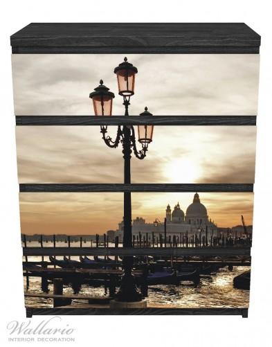 Möbelfolie Venedig - Lagune bei Sonnenuntergang – Bild 1