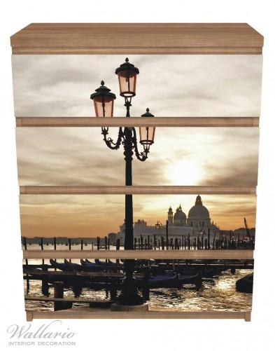Möbelfolie Venedig - Lagune bei Sonnenuntergang – Bild 3