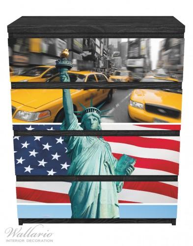 Möbelfolie New York Collage – Bild 1
