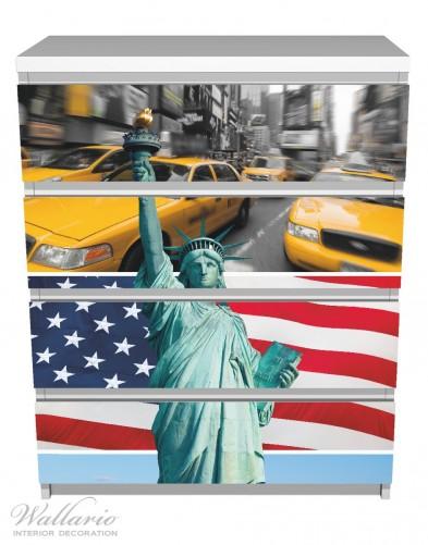 Möbelfolie New York Collage – Bild 2
