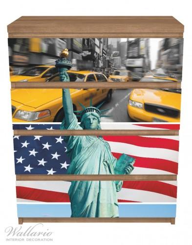 Möbelfolie New York Collage – Bild 3
