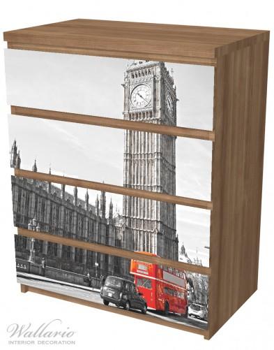 Möbelfolie London Red Bus – Bild 6