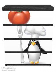 Möbelfolie Pinguin Koch – Bild 1