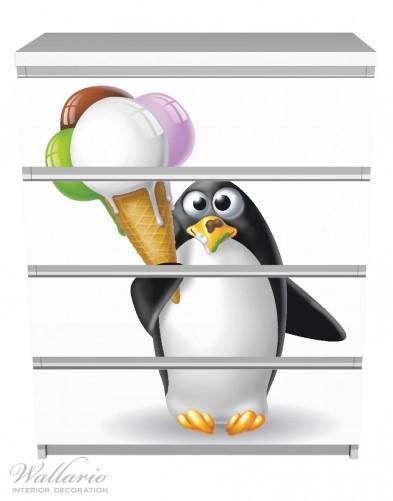 Möbelfolie Süßer Eis Pinguin – Bild 2