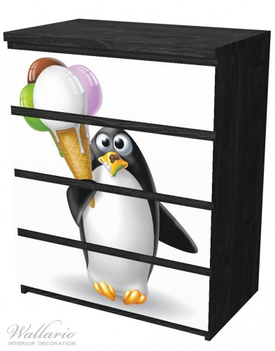 Möbelfolie Süßer Eis Pinguin – Bild 4