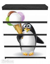 Möbelfolie Süßer Eis Pinguin – Bild 1