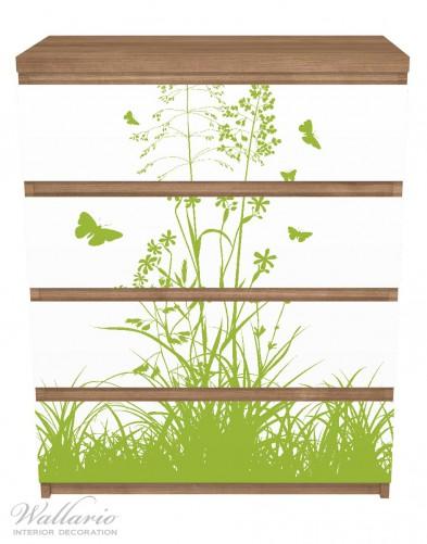 Möbelfolie Grüne Sommerwiese – Bild 3