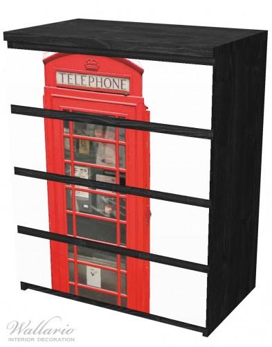 Möbelfolie London Rote Telefonzelle – Bild 4