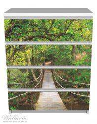 Möbelfolie Hängebrücke im Urwald, grüner Dschungel – Bild 2